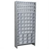 Steel Shelving Kit, 78 AkroDrawers, Gray/Clear