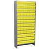 Steel Shelving Kit, 78 AkroDrawers, Gray/Yellow