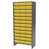 Steel Shelving Kit, 36 AkroDrawers, Gray/Yellow