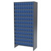 Akro-Mils Steel Shelving Kit, 36 AkroDrawers, Gray/Blue