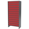 Steel Shelving Kit, 36 AkroDrawers, Gray/Red