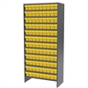 Steel Shelving Kit, 36 AkroDrawers, Gray/Yellow