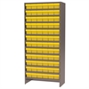 Akro-Mils Steel Shelving Kit, 72 AkroDrawers, Gray/Yellow