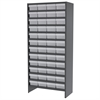 Akro-Mils Steel Shelving Kit, 48 AkroDrawers, Gray/Clear