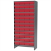 Akro-Mils Steel Shelving Kit, 48 AkroDrawers, Gray/Red