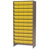 Akro-Mils Steel Shelving Kit, 48 AkroDrawers, Gray/Yellow