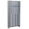 Akro-Mils Steel Shelving Kit, 60 AkroDrawers, Gray/Clear
