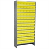 Akro-Mils Steel Shelving Kit, 60 AkroDrawers, Gray/Yellow