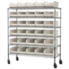 Akro-Mils Mobile Wire Shelving Kit,  0 Bins, Chrome/Stone