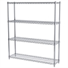 Akro-Mils 12x48x54, 4-Shelf Wire Shelving Unit, Chrome
