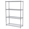 Akro-Mils 14x36x54, 4-Shelf Wire Shelving Unit, Chrome
