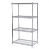 18x30x54, 4-Shelf Wire Shelving Unit, Chrome