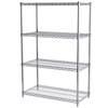 Akro-Mils 18x36x54, 4-Shelf Wire Shelving Unit, Chrome
