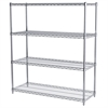 18x48x54, 4-Shelf Wire Shelving Unit, Chrome