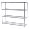 18x60x54, 4-Shelf Wire Shelving Unit, Chrome