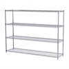18x72x54, 4-Shelf Wire Shelving Unit, Chrome