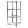 Akro-Mils 24x24x54, 4-Shelf Wire Shelving Unit, Chrome