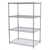 24x36x54, 4-Shelf Wire Shelving Unit, Chrome