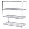 Akro-Mils 24x48x54, 4-Shelf Wire Shelving Unit, Chrome