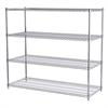 24x60x54, 4-Shelf Wire Shelving Unit, Chrome