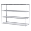 Akro-Mils 24x72x54, 4-Shelf Wire Shelving Unit, Chrome