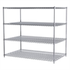36x60x54, 4-Shelf Wire Shelving Unit, Chrome