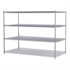 36x72x54, 4-Shelf Wire Shelving Unit, Chrome