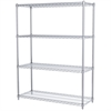 Akro-Mils 18x48x63, 4-Shelf Wire Shelving Unit, Chrome