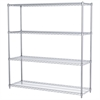 18x60x63, 4-Shelf Wire Shelving Unit, Chrome