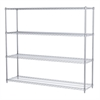 Akro-Mils 18x72x63, 4-Shelf Wire Shelving Unit, Chrome