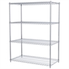 Akro-Mils 24x48x63, 4-Shelf Wire Shelving Unit, Chrome