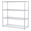 24x60x63, 4-Shelf Wire Shelving Unit, Chrome