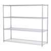 Akro-Mils 24x72x63, 4-Shelf Wire Shelving Unit, Chrome