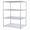 36x48x63, 4-Shelf Wire Shelving Unit, Chrome