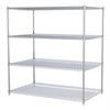 36x60x63, 4-Shelf Wire Shelving Unit, Chrome
