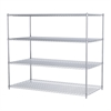 36x72x63, 4-Shelf Wire Shelving Unit, Chrome