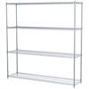 Akro-Mils 18x72x74, 4-Shelf Wire Shelving Unit, Chrome