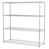 Akro-Mils 24x72x74, 4-Shelf Wire Shelving Unit, Chrome