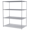 36x60x74, 4-Shelf Wire Shelving Unit, Chrome