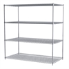 Akro-Mils 36x72x74, 4-Shelf Wire Shelving Unit, Chrome