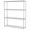 18x72x86, 4-Shelf Wire Shelving Unit, Chrome
