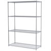 24x60x86, 4-Shelf Wire Shelving Unit, Chrome