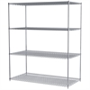 Akro-Mils 36x72x86, 4-Shelf Wire Shelving Unit, Chrome