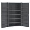 HD Steel Bin Cabinet w/ Shelves, Gray