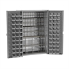 HD Bin Cabinet, 16 TiltView Bins, 66 Bins, Gray/Clear