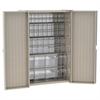 Akro-Mils HD Bin Cabinet w/ 16 TiltView Bins, Beige/Clear