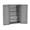Akro-Mils Bin Cabinet, HD w/ 16 TiltView Bins, Gray/Clear