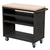Akro-Mils Louvered Cart, 37x18, No AkroDrawers, Black