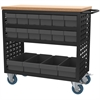 Louvered Cart, 37x18, 16 AkroDrawers, Black/Gray