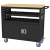 Akro-Mils Louvered Cart w/Locking Doors, 37x18, Black